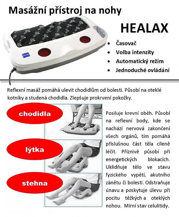 Masážní přístroj na nohy HEALAX