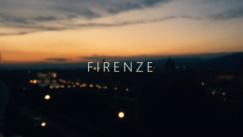 Florence: Cinematic travel film