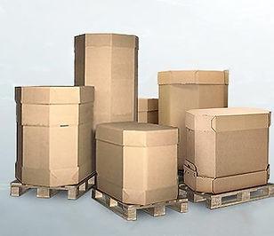 octabin cardboard box