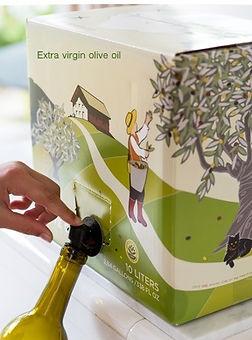 bag in box oil olio cardboard cartone