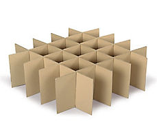Cardboard box dividers
