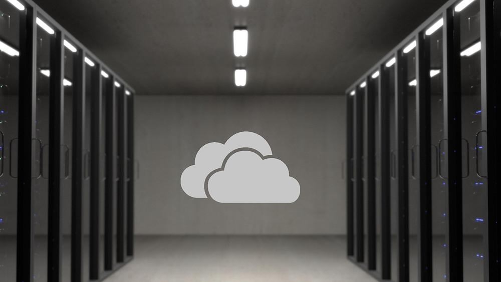 data center cloud icon