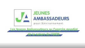 Les Jeunes Ambassadeurs au Congrès mondial de la nature de l'UICN