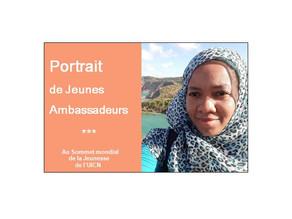 Faynoussati, Jeune Ambassadrice pour l'Environnement au Sommet mondial de la Jeunesse de l'UICN