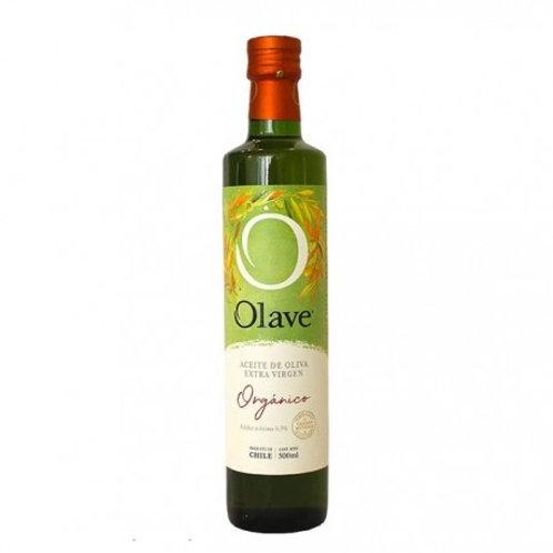 Aceite de oliva extra virgen orgánico marca Olave
