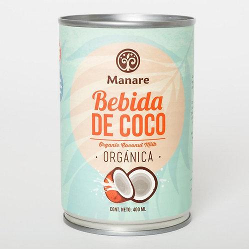 Leche de coco orgánica Manare