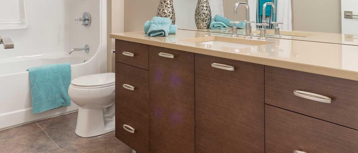 contemporary custom bathroom