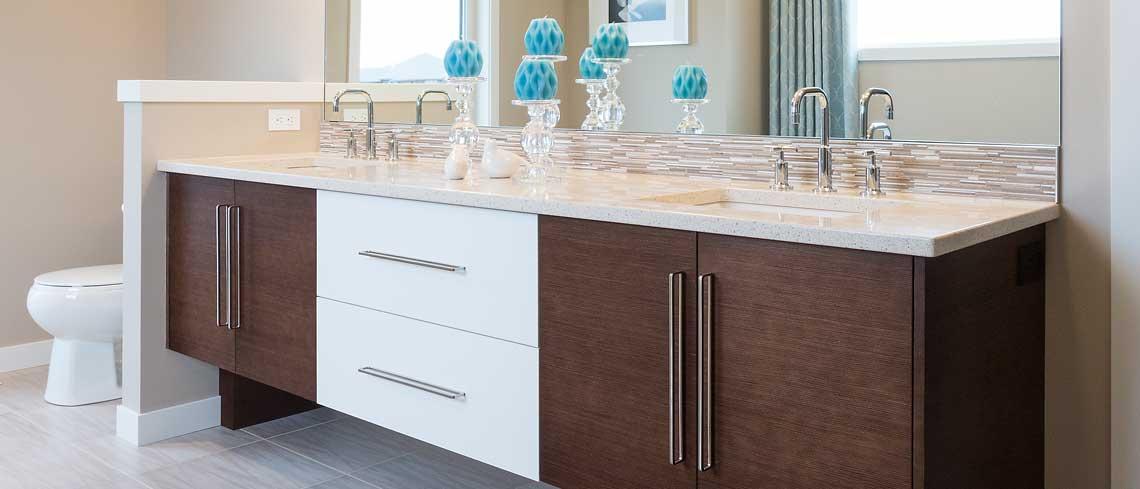 Contemporary custom bathroom cabinet