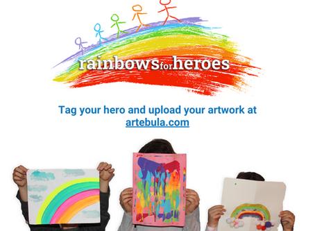 Artebula's #rainbowsforheroes initiative recognizes warriors on the frontlines