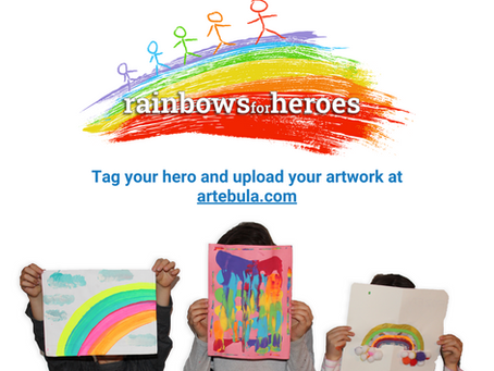 Artebula's #rainbowsforheroes initiative recognizes warriors on the frontlines