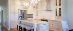 White Cabinets custom Kitchen