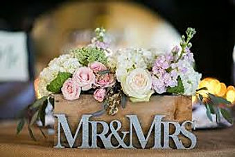 Mr. & Mrs. Flower arrangement