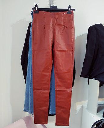 Pantalon legging simili