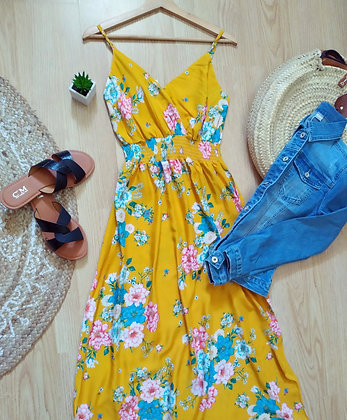 Robe longue fleuries
