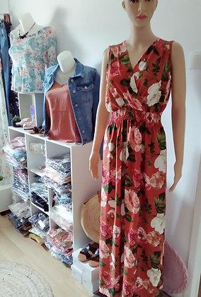 Robe longue fleuries choco