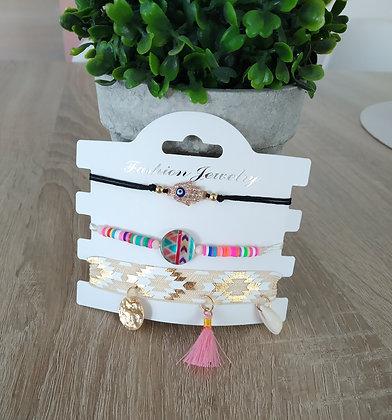 Lot de 3 bracelets