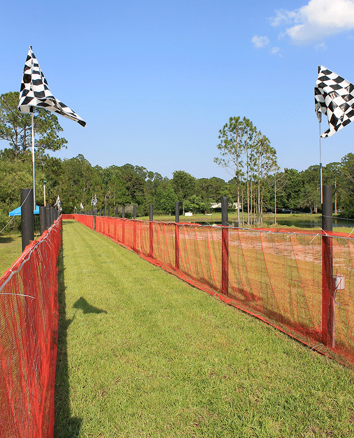The checkered flags are unfurled