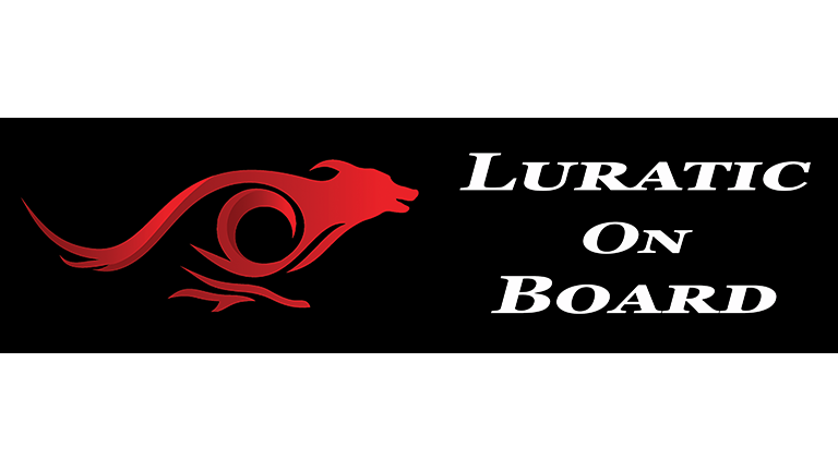 Luratic on Board Bumper Sticker