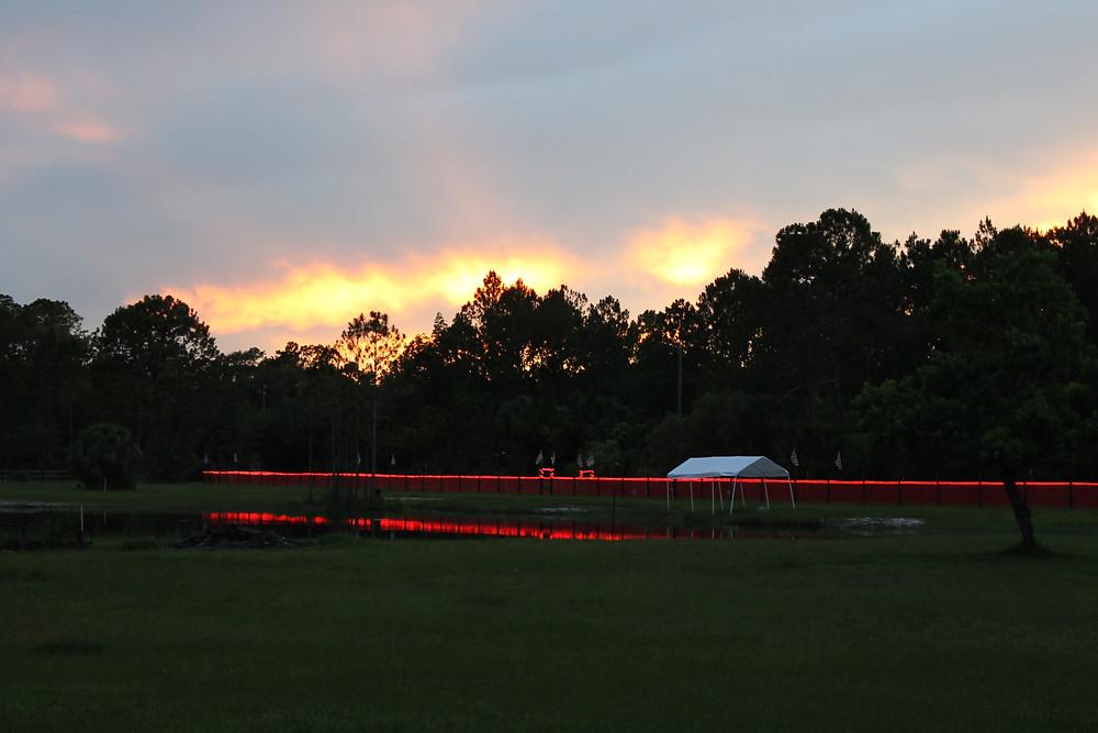 FCAT track at dusk