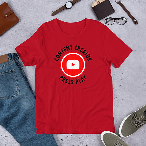 Press Play Content Creator Short-Sleeve Unisex T-Shirt