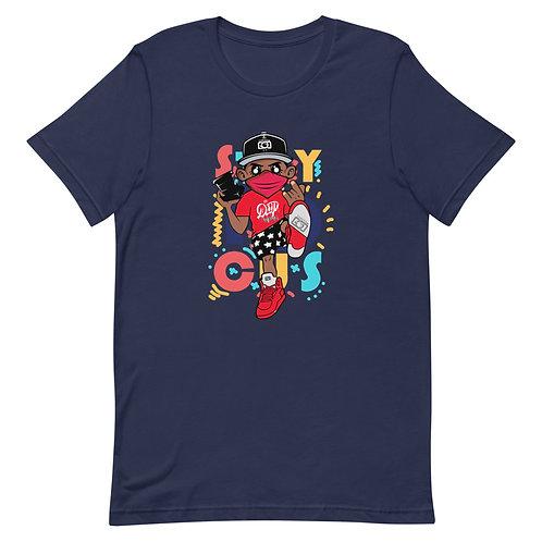 Stay Focused Camera God Mascot Short-Sleeve Unisex T-Shirt