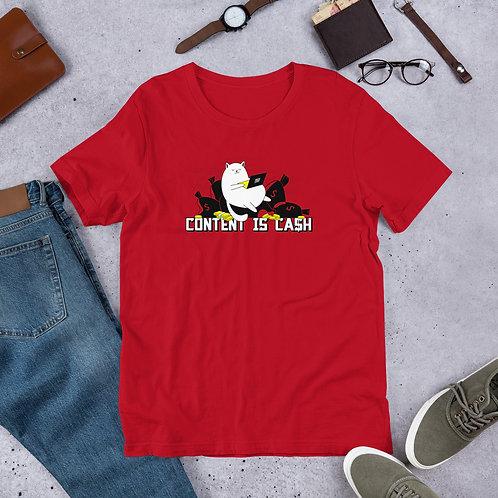 Fat Cat Cash Short-Sleeve Unisex T-Shirt