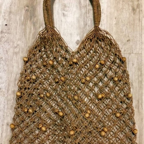 Beaded String Shopping Bag