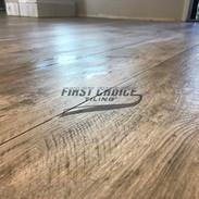 Wood-like tile flooring