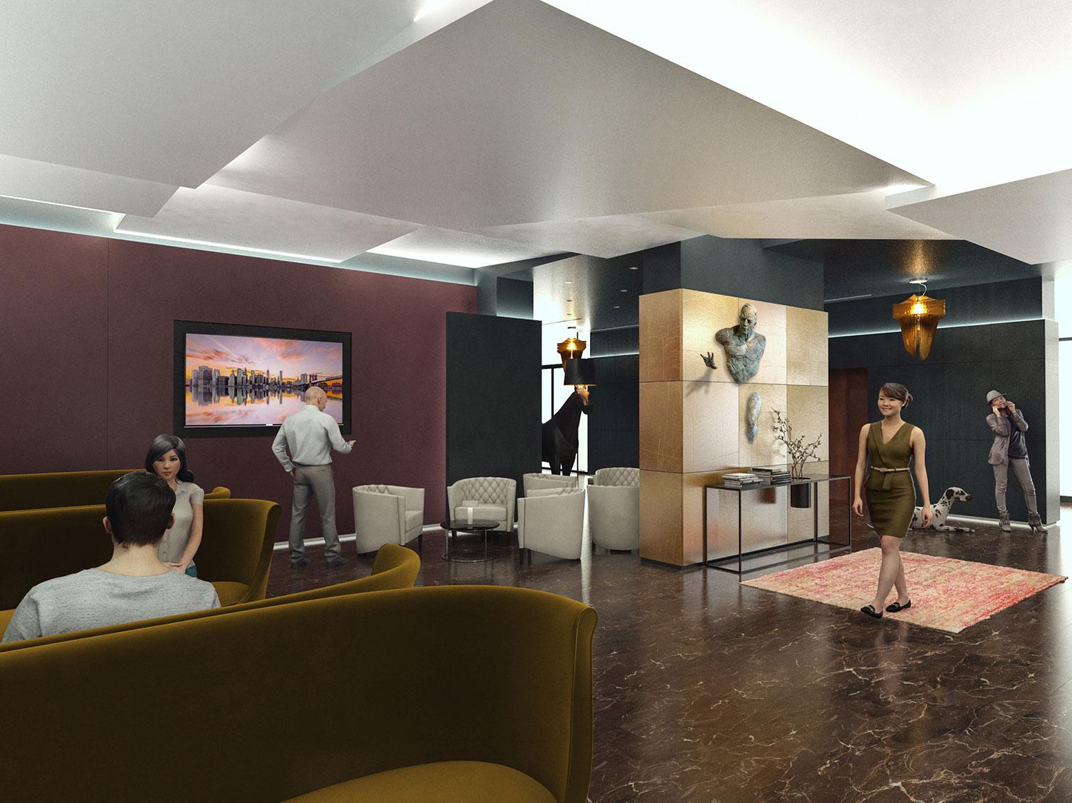 Hall du centre d'affaires Merani
