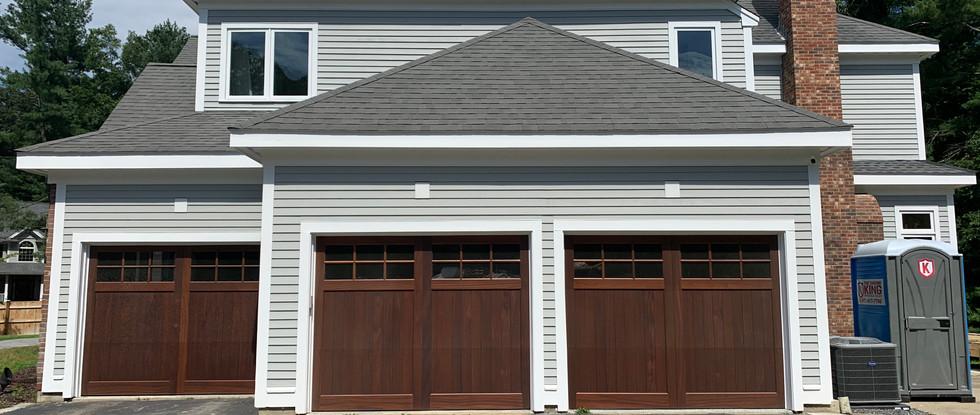 New handcrafted garage doors