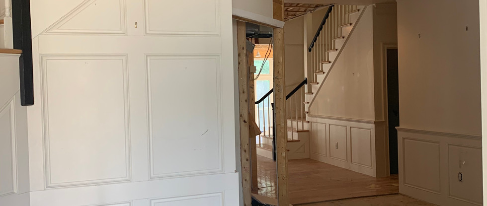 Closets removed, opening up Hallway