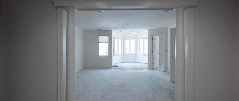 Awkward division in the Master Suite - Before