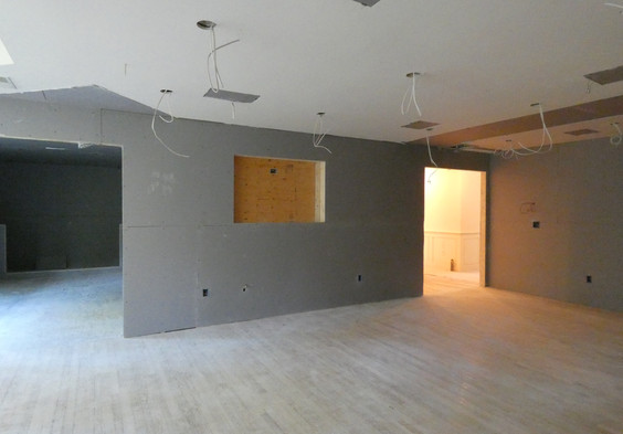 Recessed space for media.