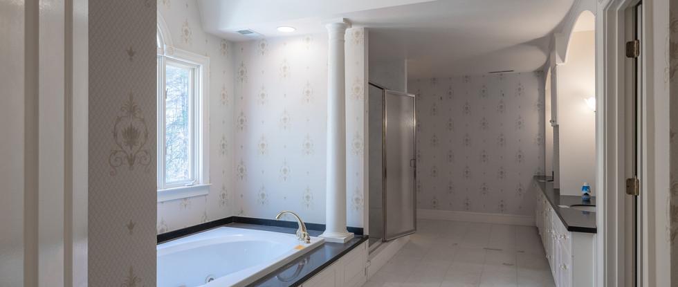 Master Bath Tub & Adjacent Shower - Before