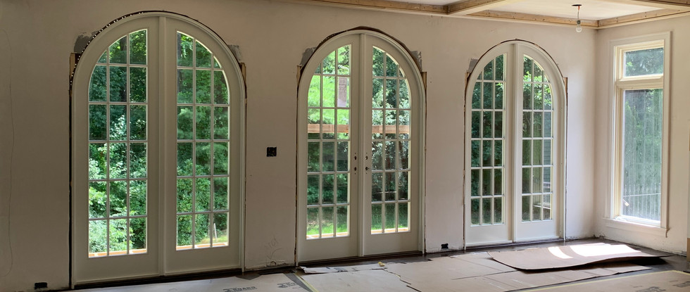 New patio doors from inside Family Room