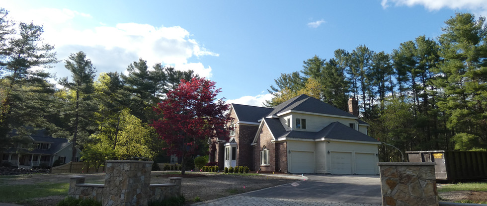 View from driveway