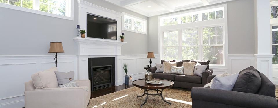 Great Room | Wall of Windows | Transom Windows