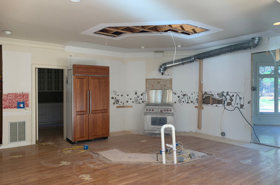 Removal of curved island, soffits and flyover