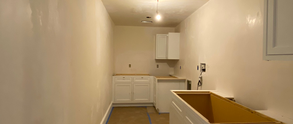Laundry Room cabinets are in.