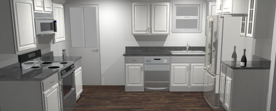 Inhouse Kitchen Design - 3D Rendering