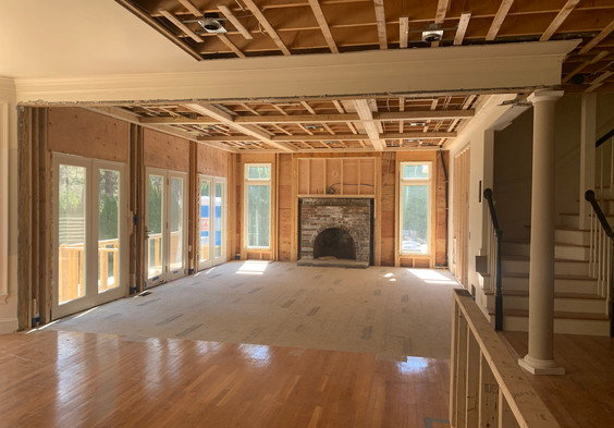 View from Kitchen into Family Room