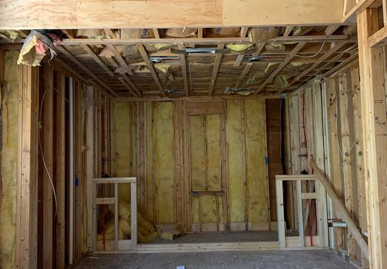 Master Bathroom - Framing for new 12' Wetroom.