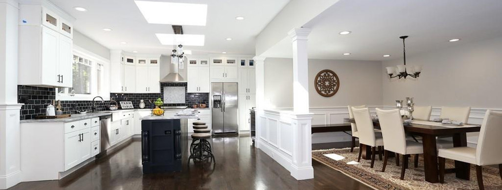 Farmhouse Kitchen with Adjacent Dining Area