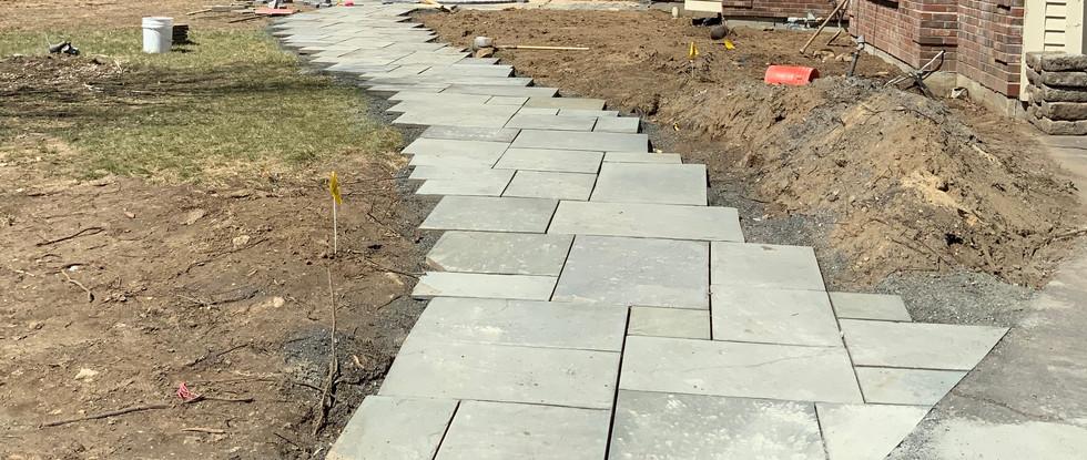 New Bluestone Walkway