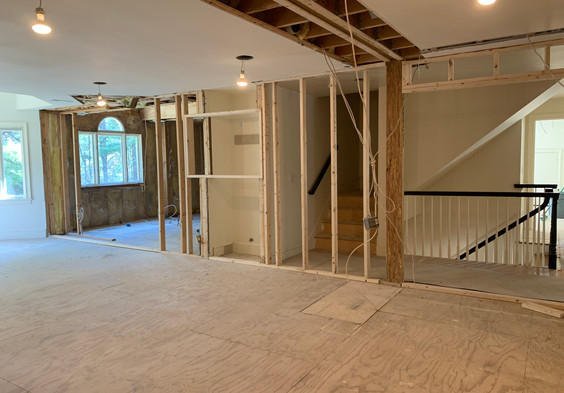 View to Master Bath with Palladian window.