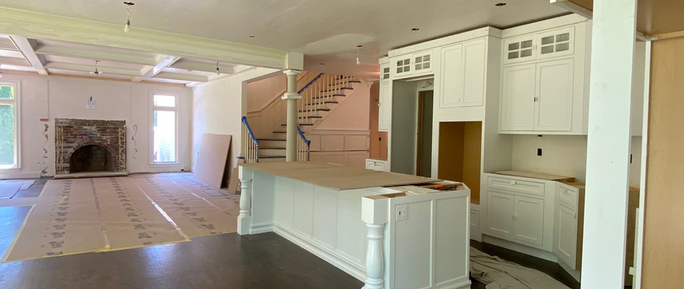 Family Room, Back Staircase & Kitchen