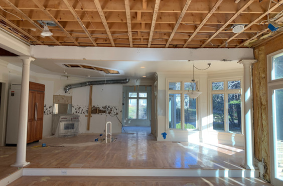 Natural light coming into Breakfast Area/Kitchen