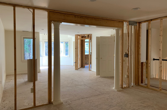 Angled doorway into Master Bath will be realigned to open up Sitting Area