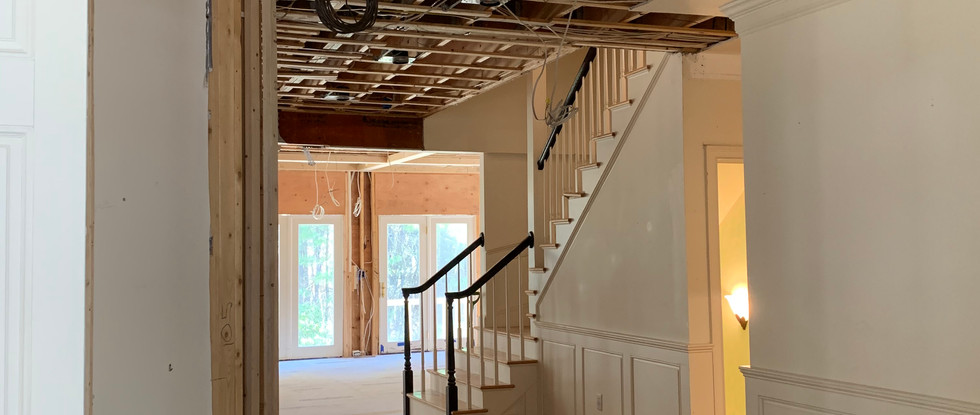 View from Foyer to Back Staircase
