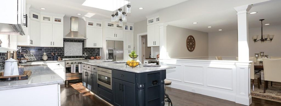 Expansive, Gray Kitchen Island